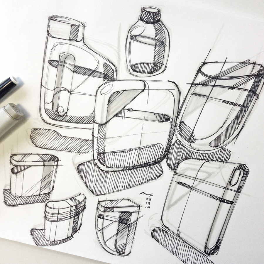Product Design Pencil Sketches Concept